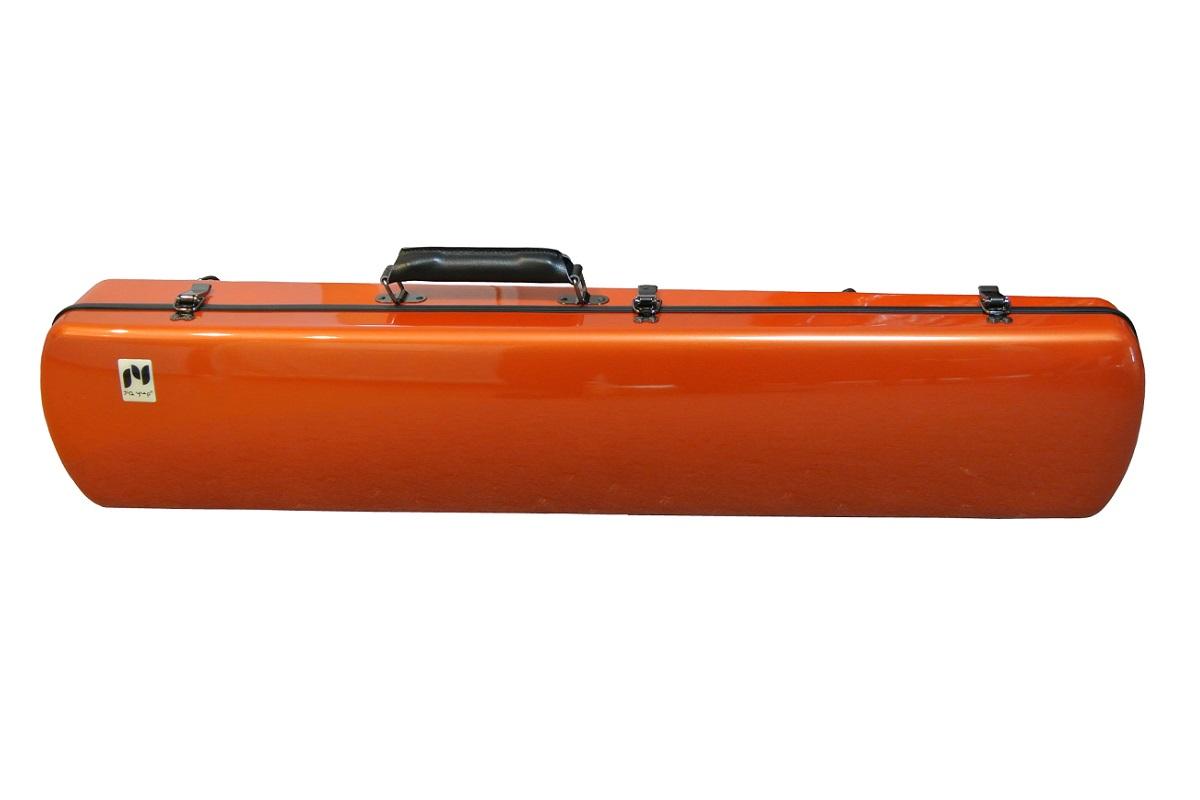 画像1: 北京佳楽琴房製 二胡ハードケース:オレンジ(ABS樹脂)