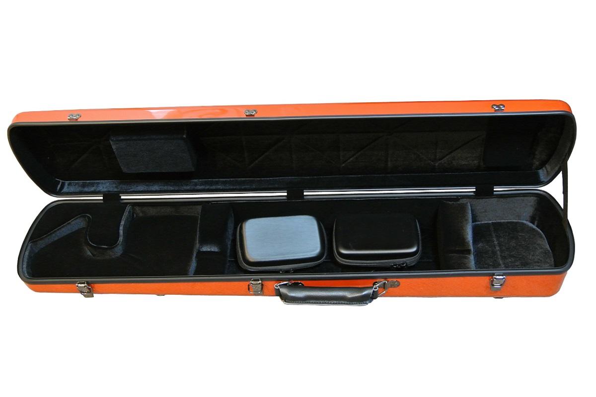 画像3: 北京佳楽琴房製 二胡ハードケース:オレンジ(ABS樹脂)