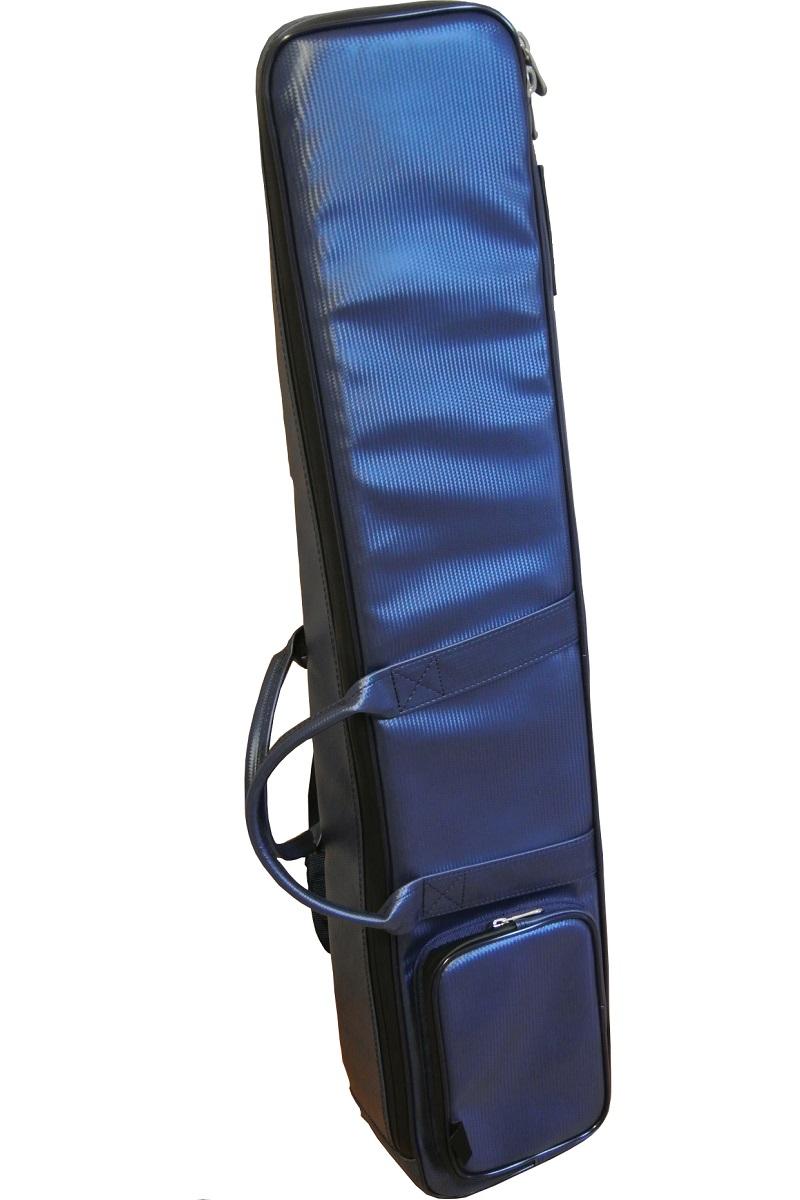 画像1: 台北 長安楽器特製 二胡ソフトケース リュック式 (カラー:ブルー / メッシュ地)