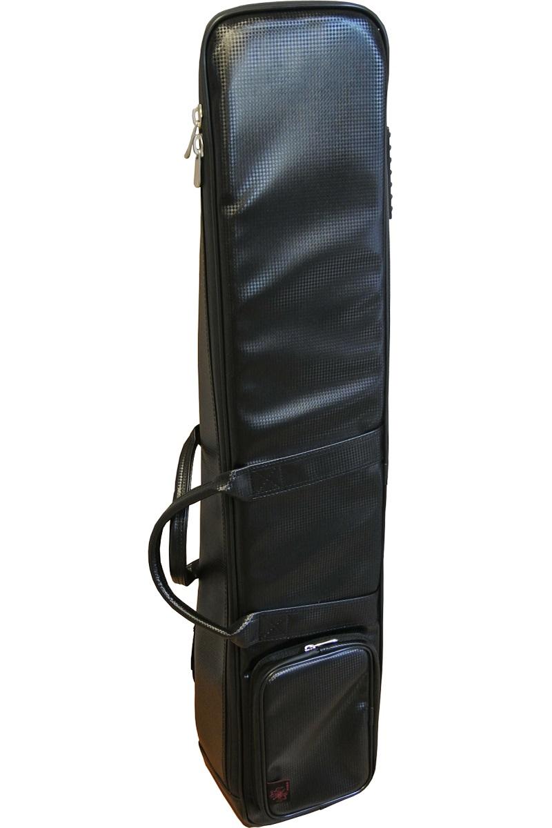 画像1: 台北 長安楽器特製 二胡ソフトケース(リュック式 カラー:ブラック / メッシュ地)